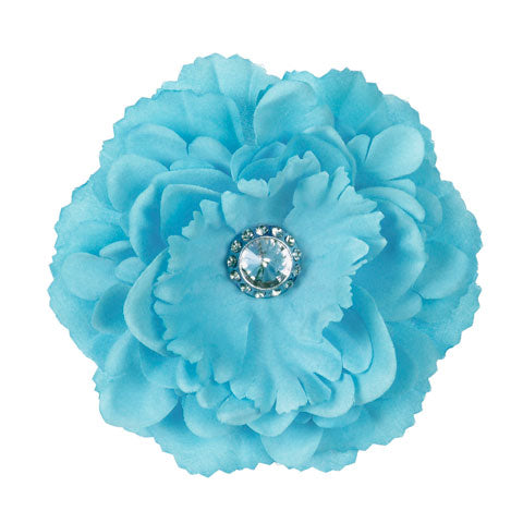 Blue Jeweled Peony Locker Magnet