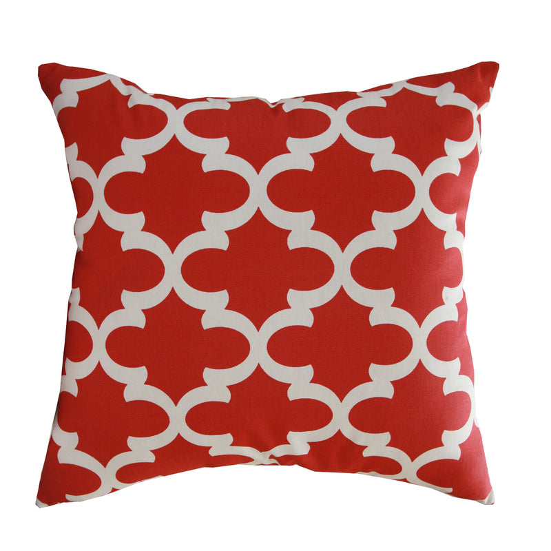 Red Geo Indoor Pillow