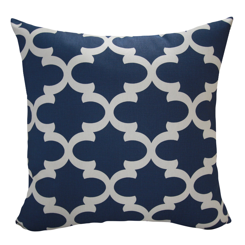 Santoro Blue Geo Indoor Pillow