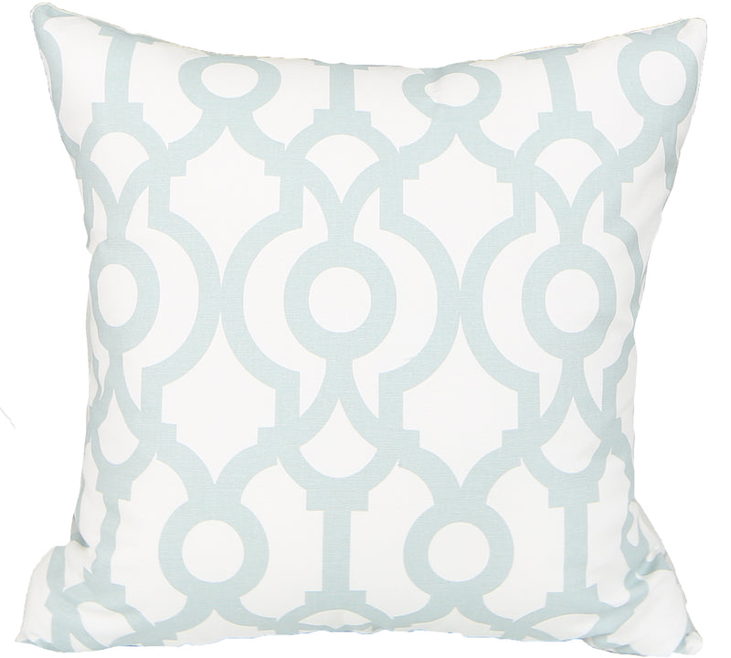 Temple Light Teal Indoor Pillow