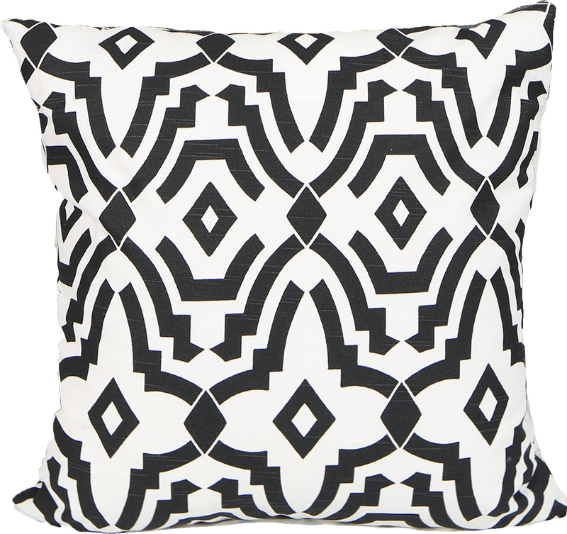Totem Black Indoor Pillow