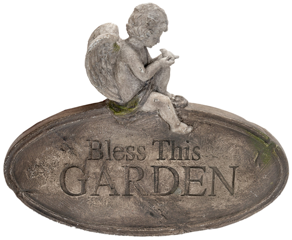 Bless This Garden Angel Wall Decor
