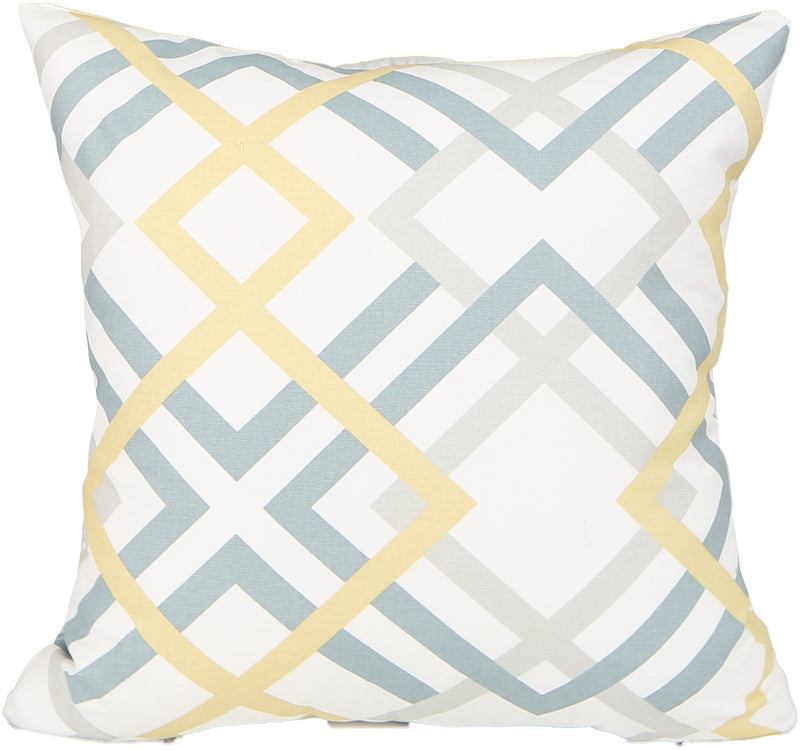 Zig Light Teal Indoor Pillow