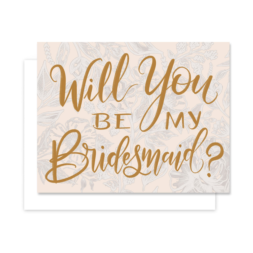 Will You Be My Bridesmaid - A2 Note Card