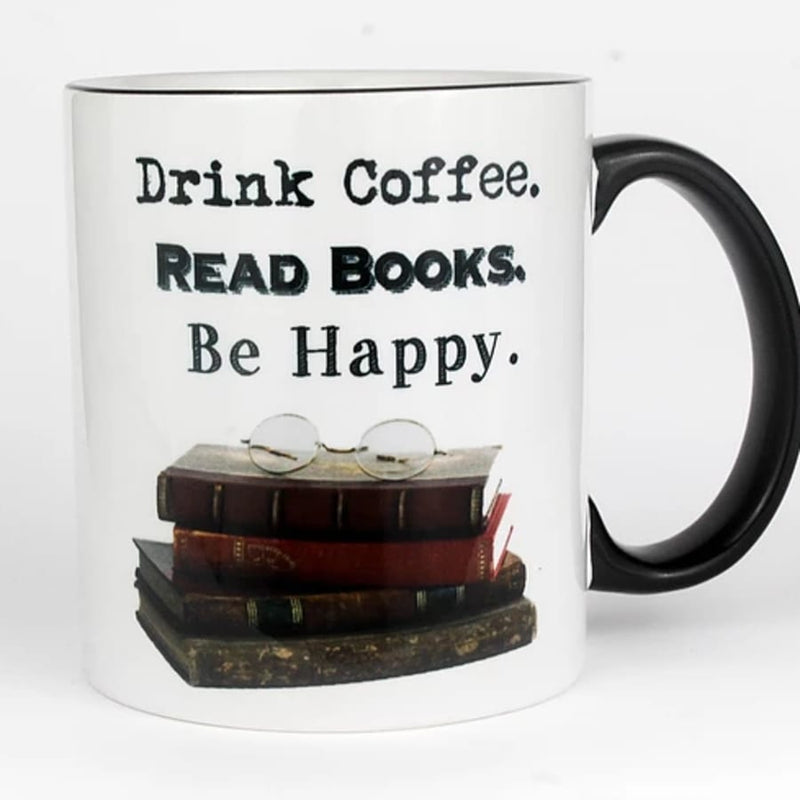 Drink Coffee, Read Books, Be Happy Mug (11 oz.)
