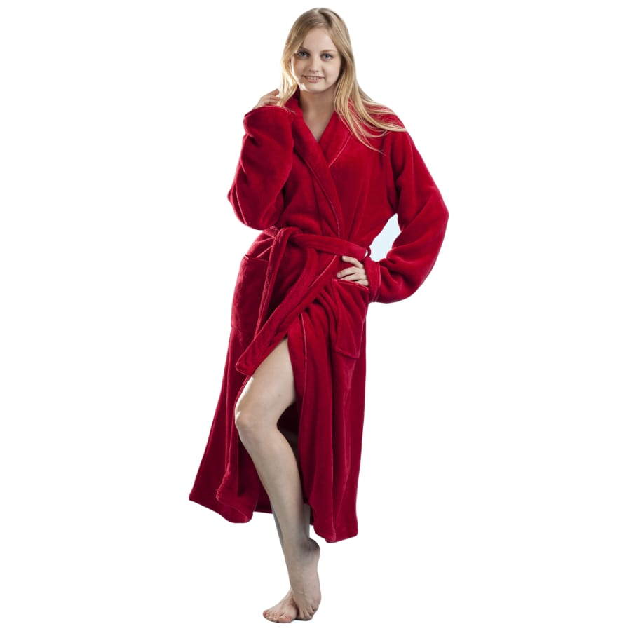 Red Satin Trimmed Robe