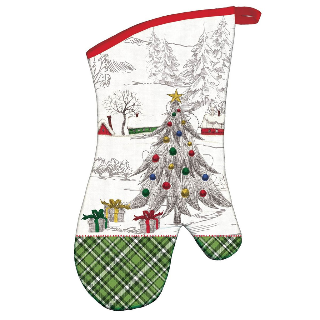 Season's Greetings Oven Mitt