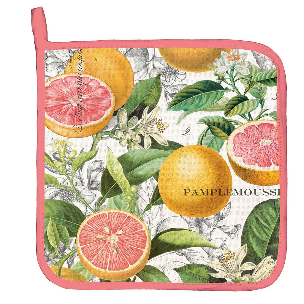 Pink Grapefruit Potholder