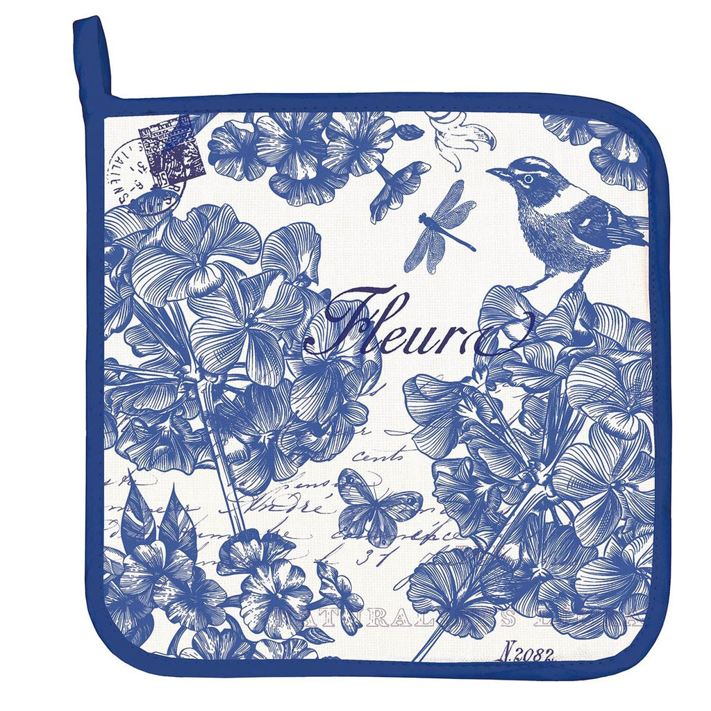 Indigo Cotton Potholder