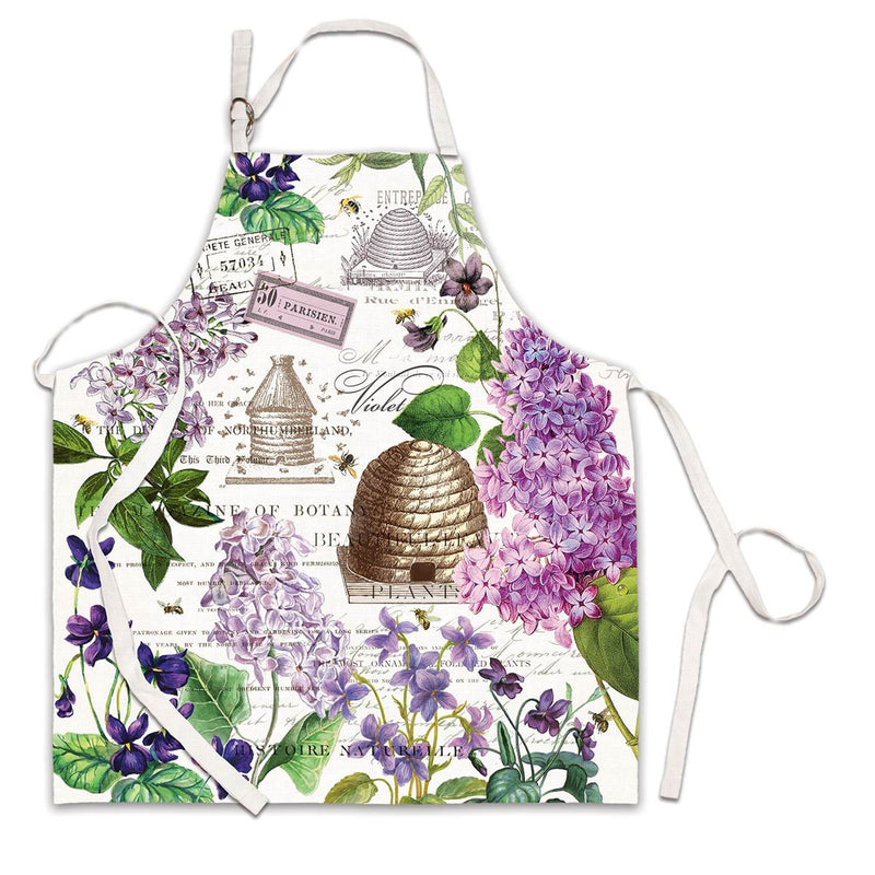 Lilac and Violets Apron