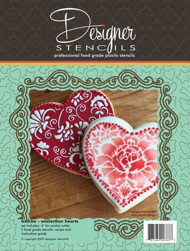 Hearts Cookie Stencil & Cutter Set