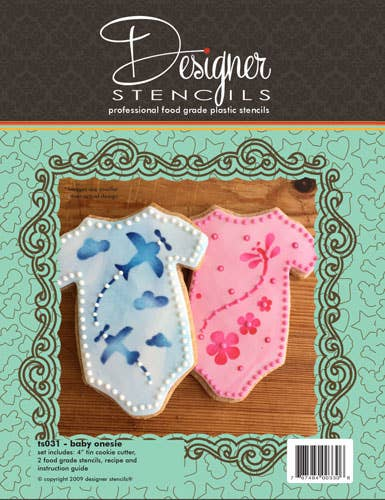 Baby Onesie Cookie Cutter and Stencil Set