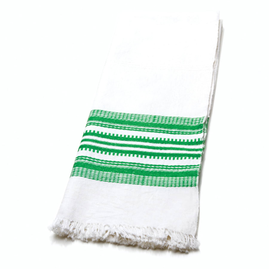 Green Antigua Stripe Towel