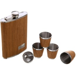 Brown Flask Set in Gift Box (5 Piece)