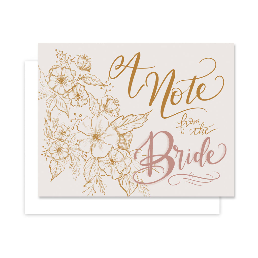 A Note From the Bride - A2 Note Card