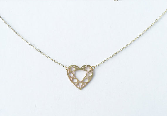 Heart Cut Gem Necklace | Silver Plated