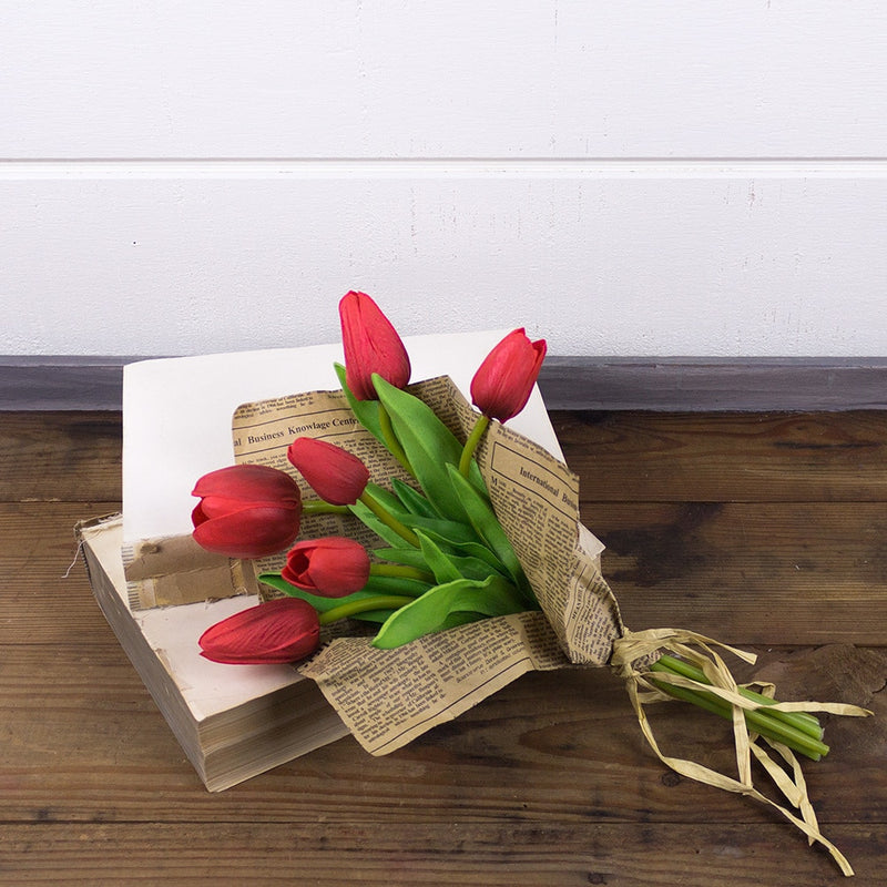 Red Tulip Bundle in Paper