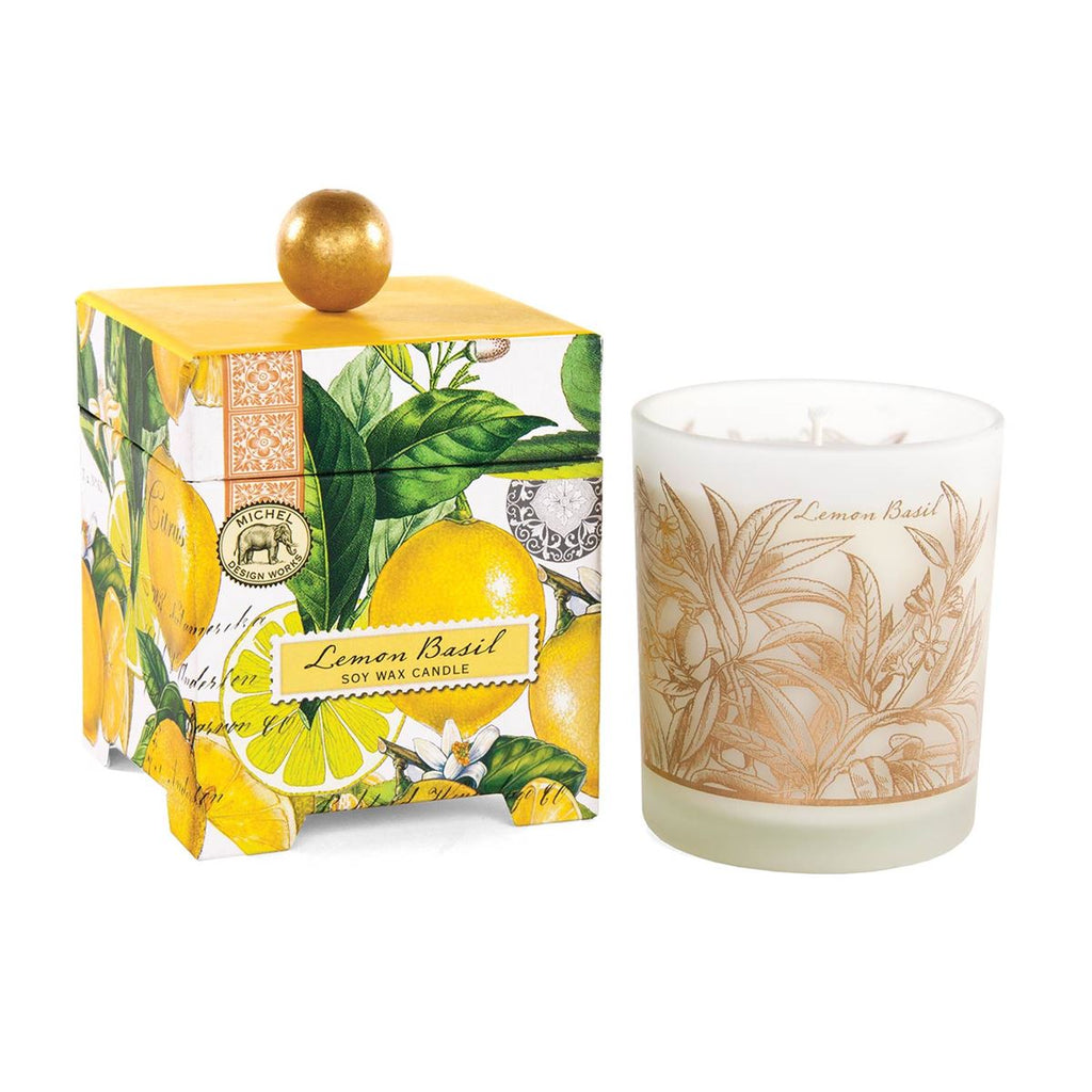 Lemon Basil 14 oz. Soy Wax Candle