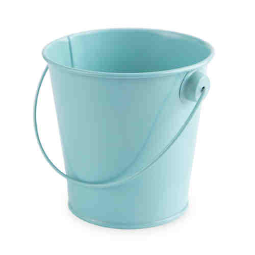 Teal Metal Pail