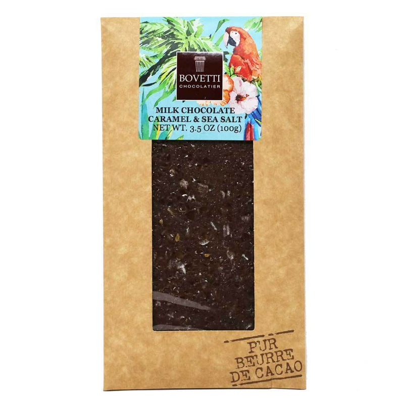 Bovetti - 25g Milk Chocolate Bar with Caramel & Sea Salt