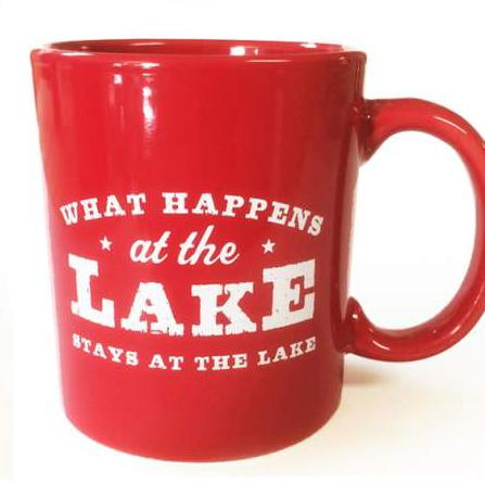What Happens At The Lake Mug - Red