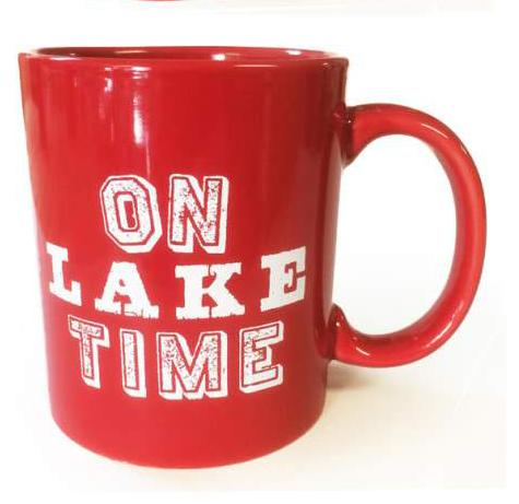 On Lake Time Mug - Red