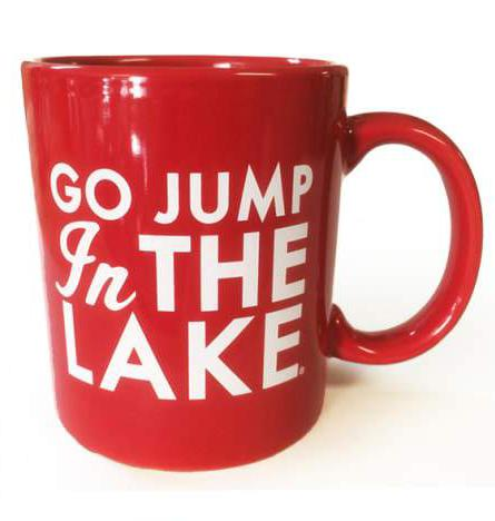 Go Jump In The Lake Mug - Red