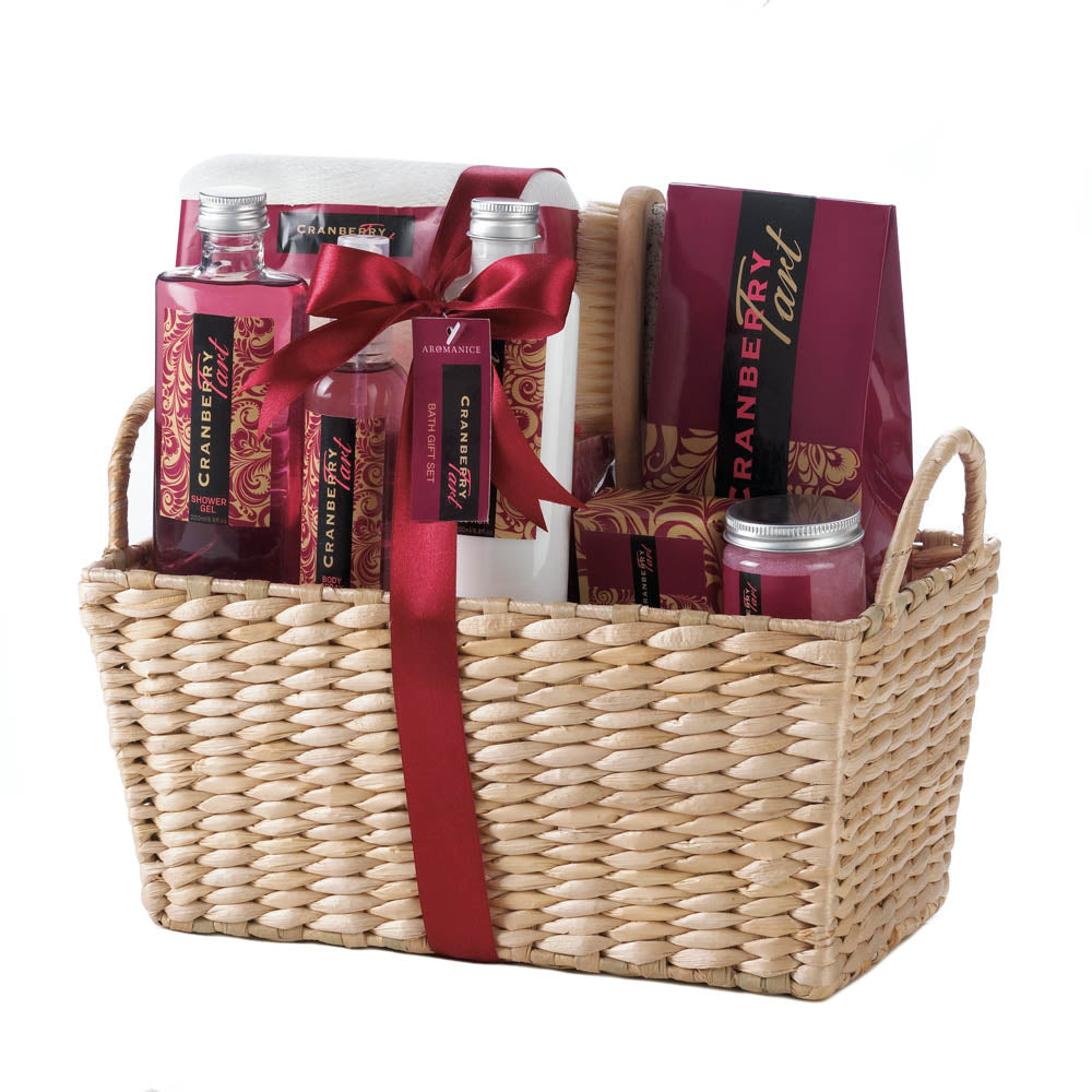 Cranberry Tart Spa Gift Basket