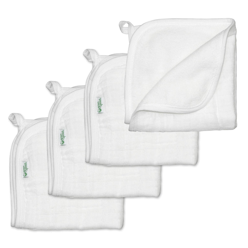 Muslin Washcloths - Made from Organic Cotton -4pk