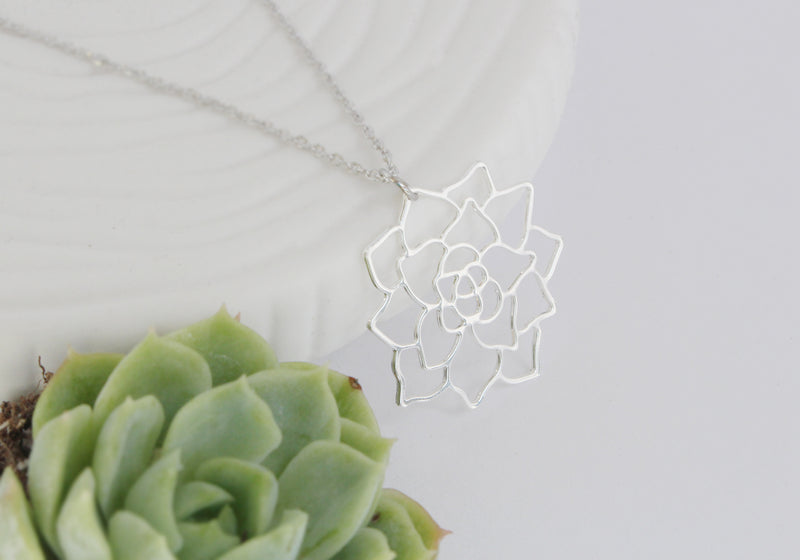 Succulent Necklace | Stainless Steel