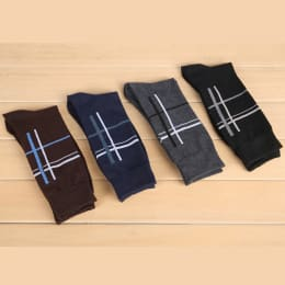 Men's Deco Criss-Cross Socks ( 4 Pair)