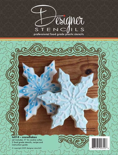 Snowflake Cookie Cutter & Stencil Set