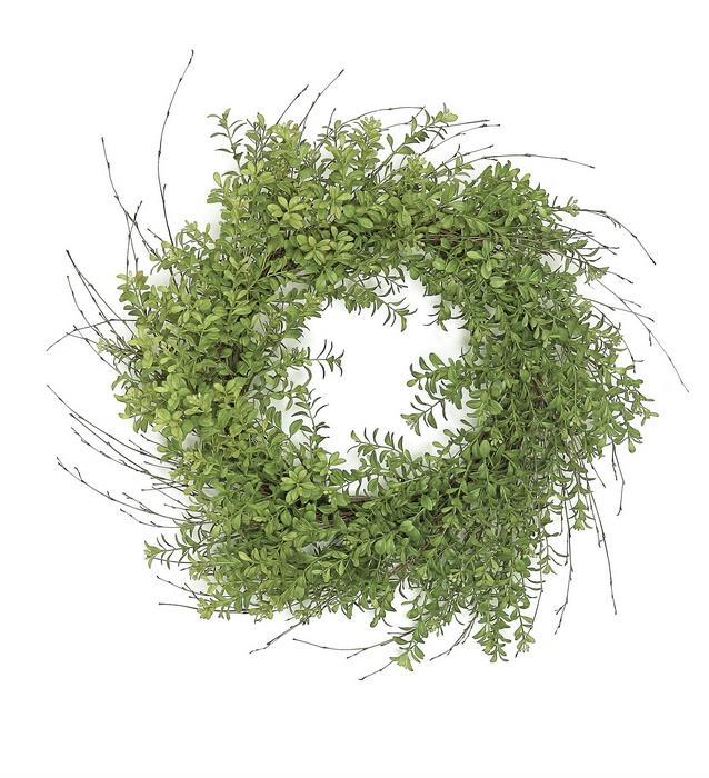 Wild Boxwood and Twig Wreath