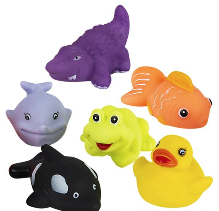 "Rubber Water Squirting Animal (3"")"