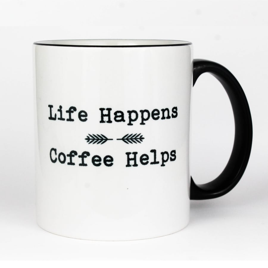 Life Happens Coffee Helps Mug (11 oz.)