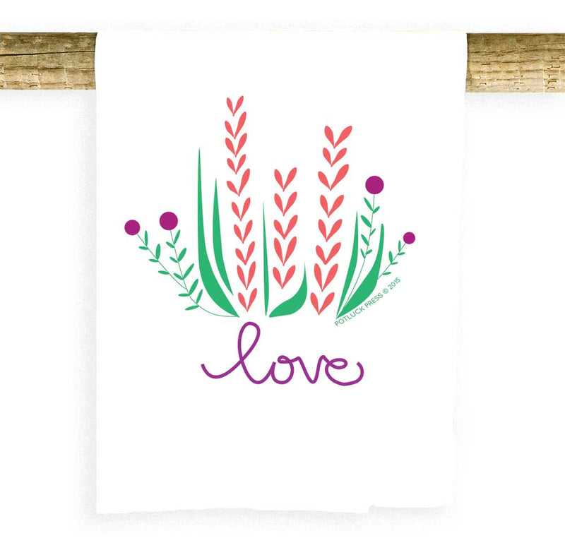 Love Flowers Towel