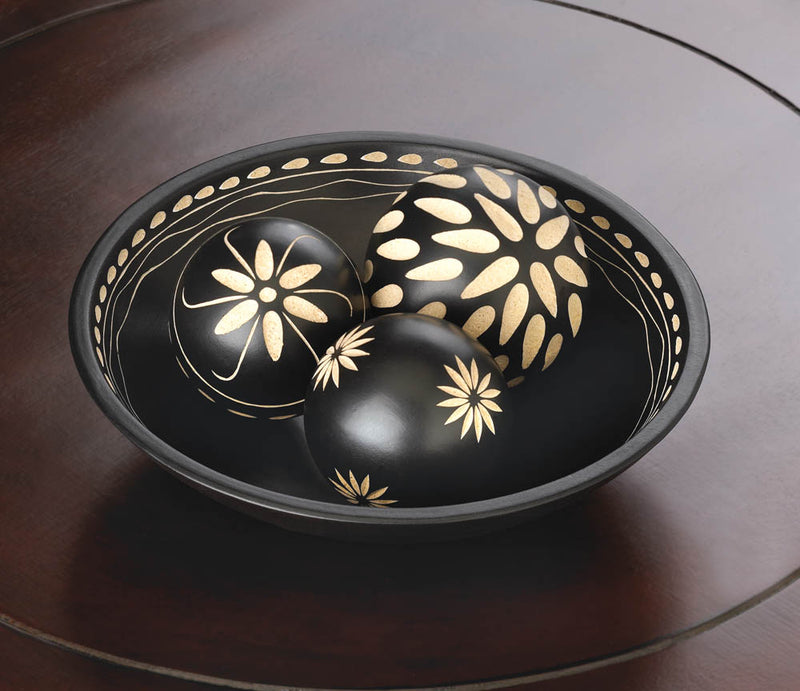 Ebony Decorative Balls Set