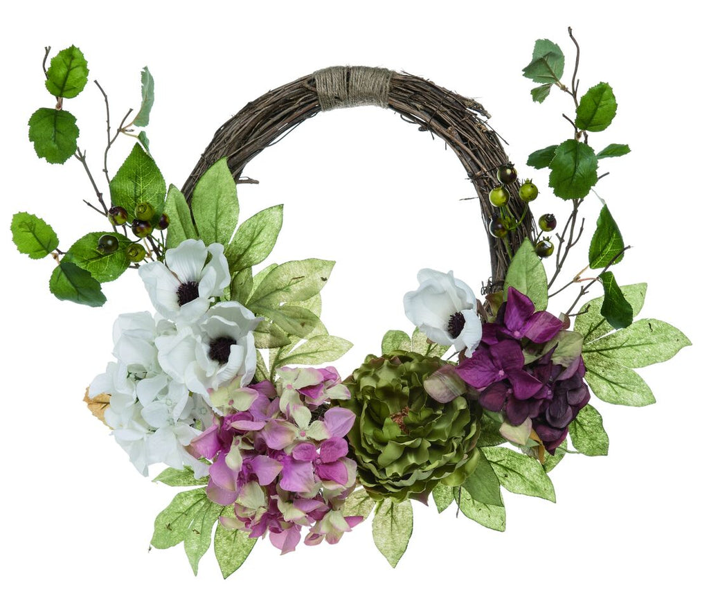 "18"" Multicolor Spring Formal Flower Wreath"