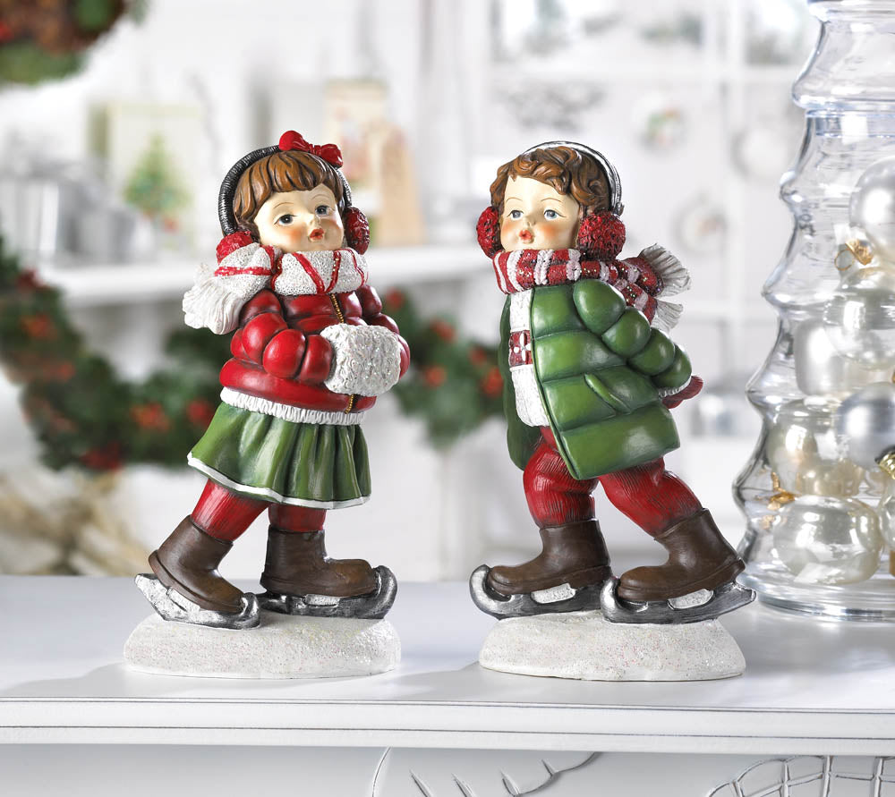 Christmas Holiday Skating Figurine