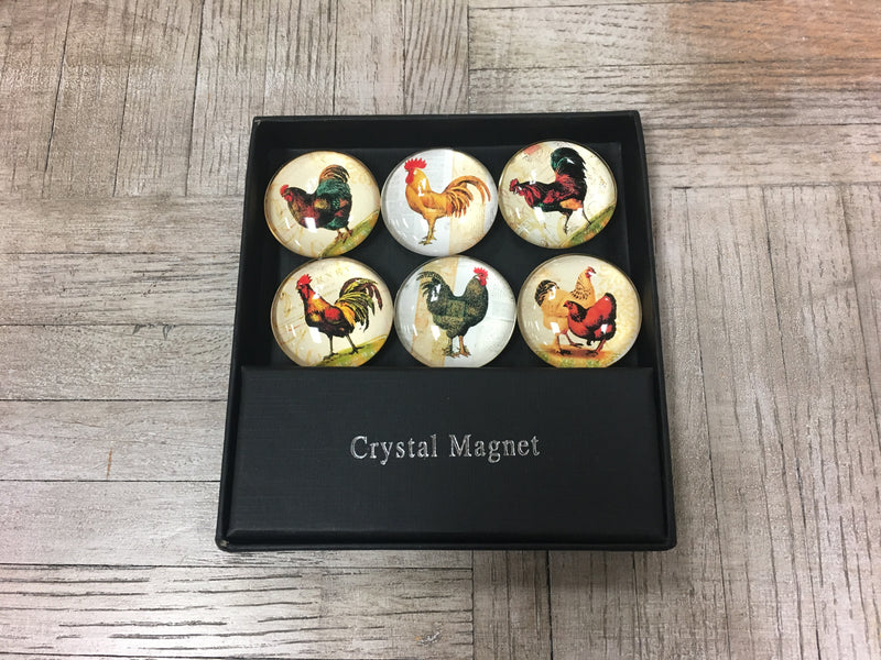 Rooster Crystal Magnets (Set of 6)