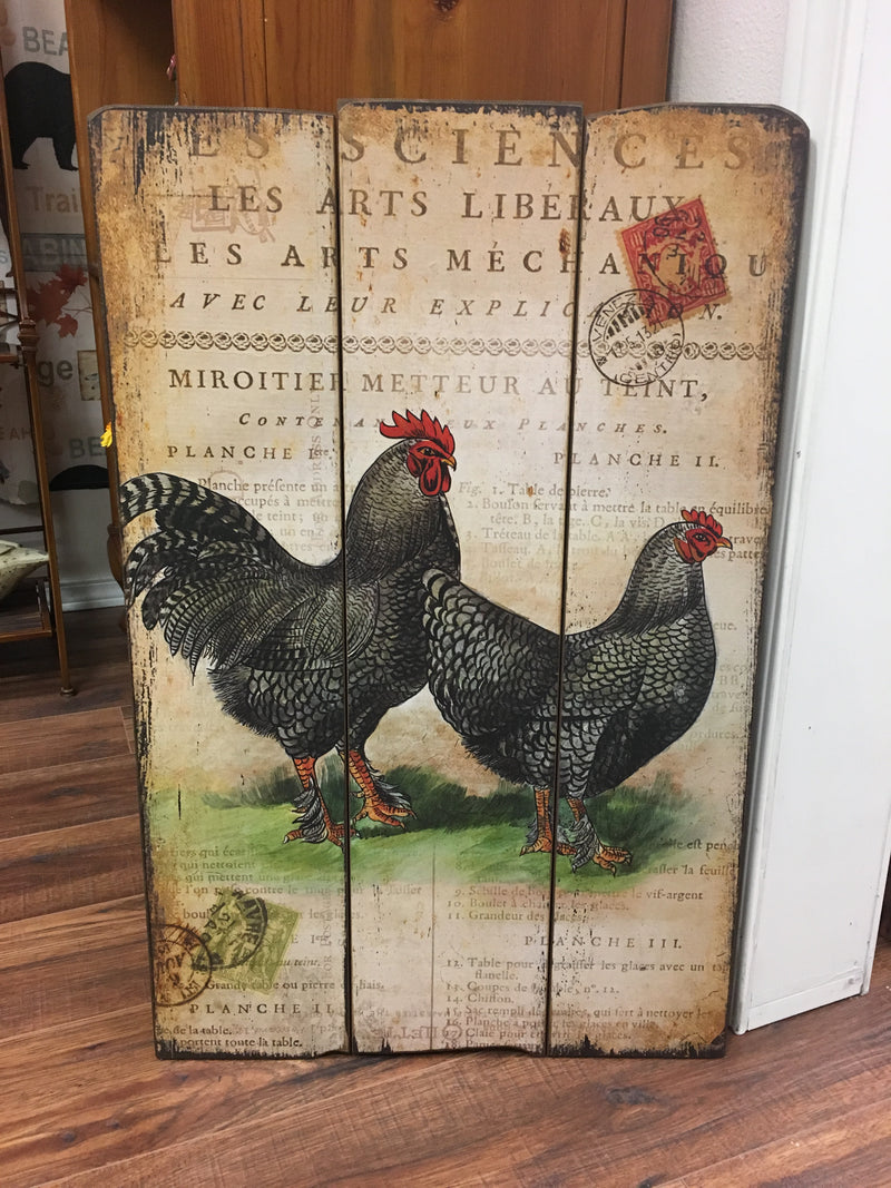 Rooster Wood Wall Art