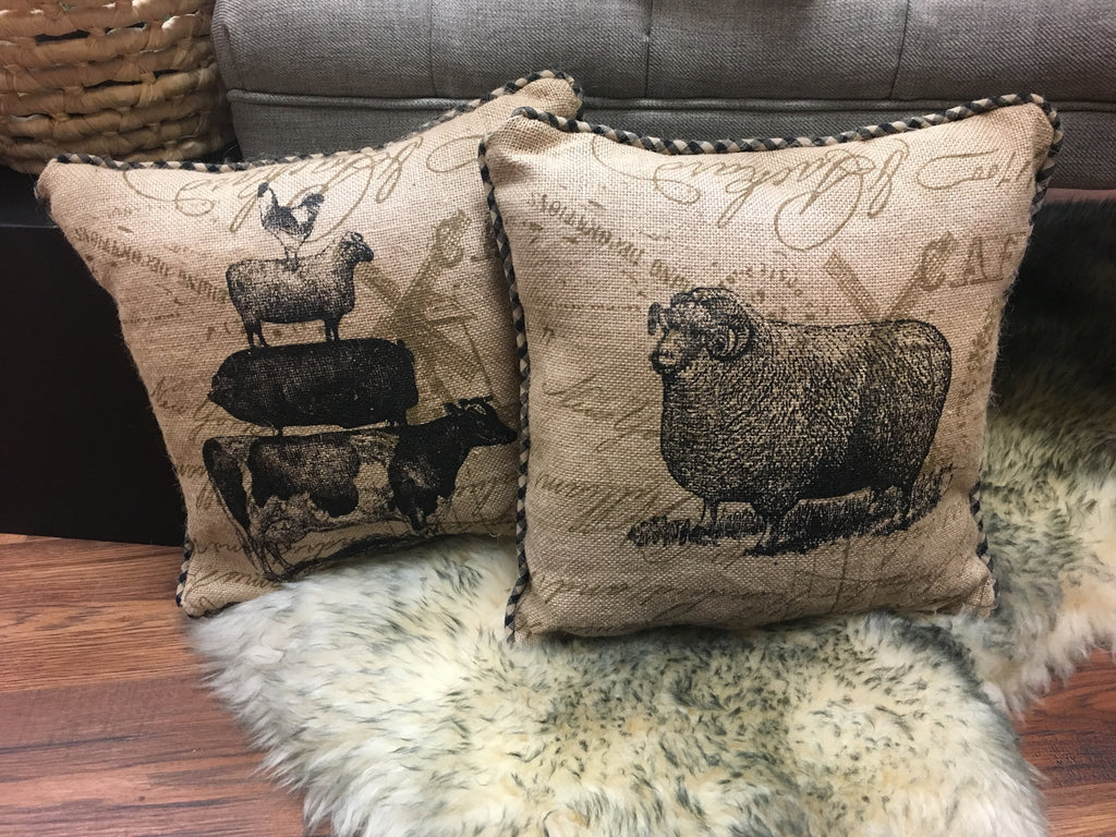 Farm Animal Pillow