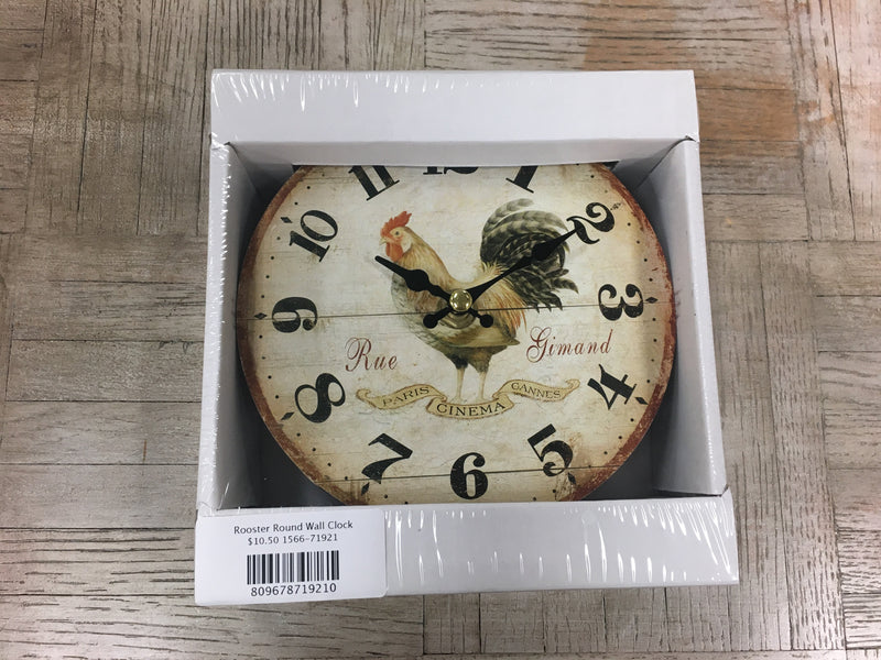 Rooster Round Wall Clock