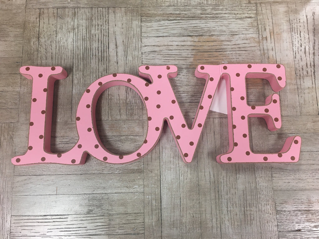 Love Wood Sign