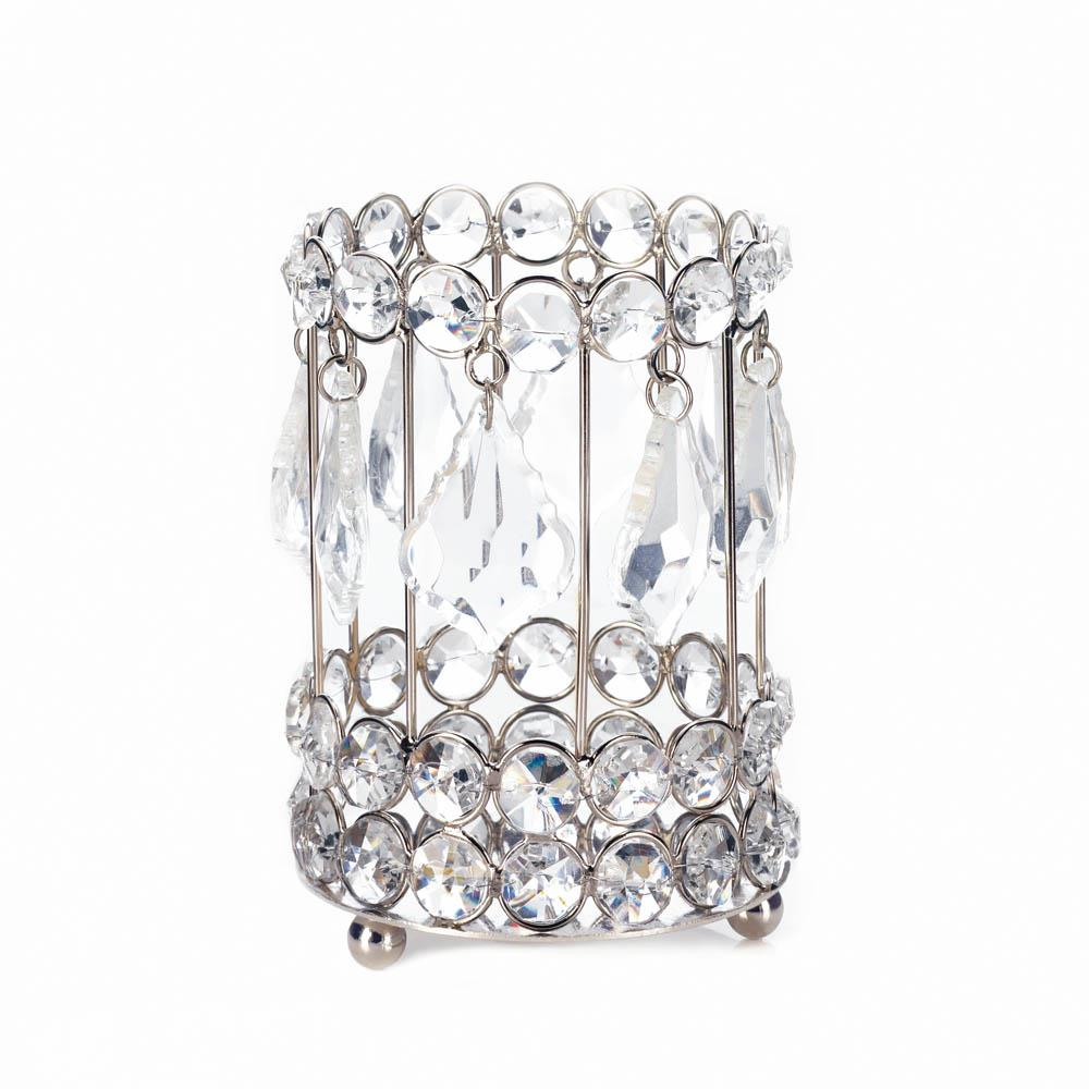 Large Crystal Drop Candle Holder