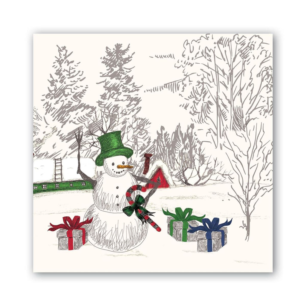 Season's Greetings Luncheon Napkins