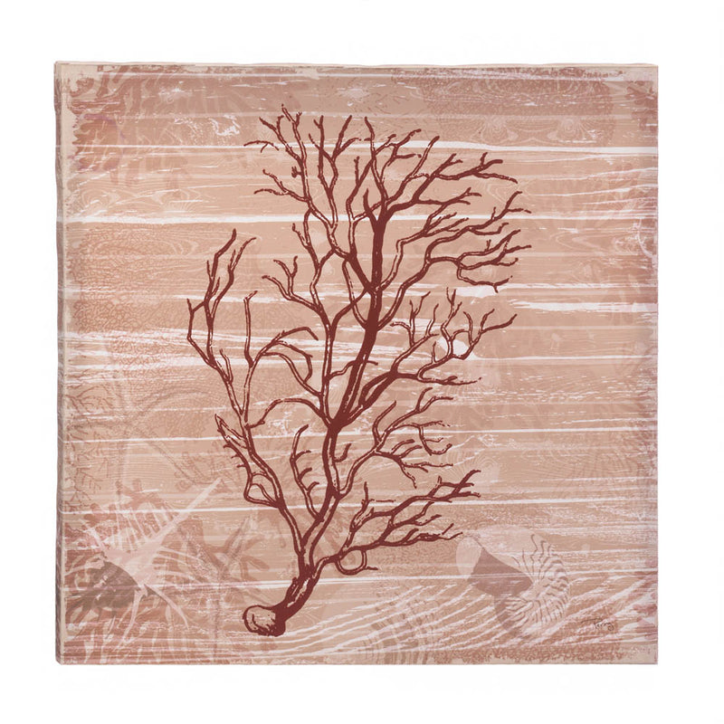 Sea Swept Coral Canvas Wall Art