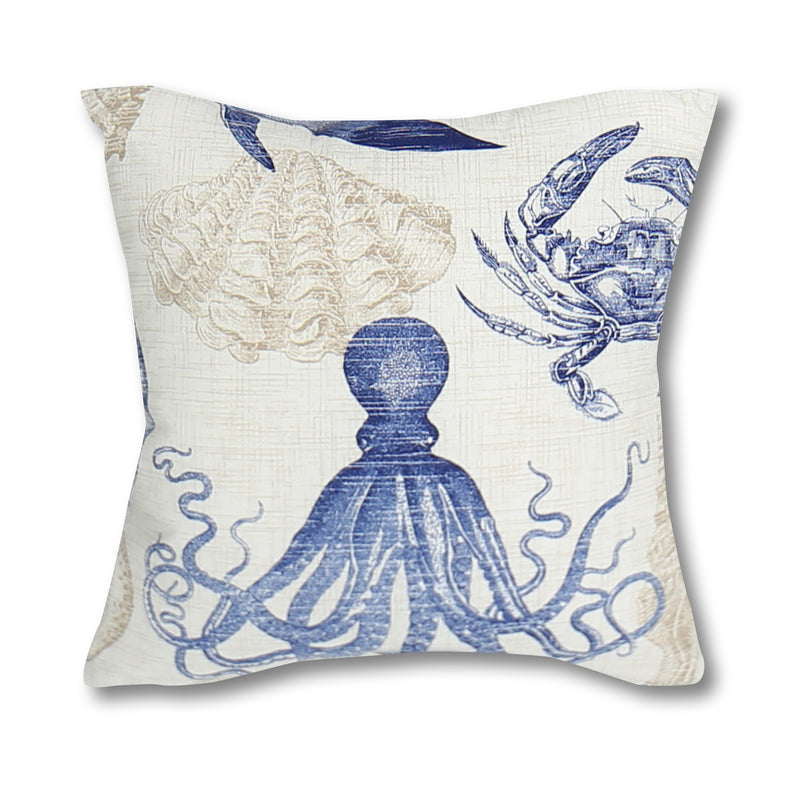 Seashore Blue Outdoor Pillow