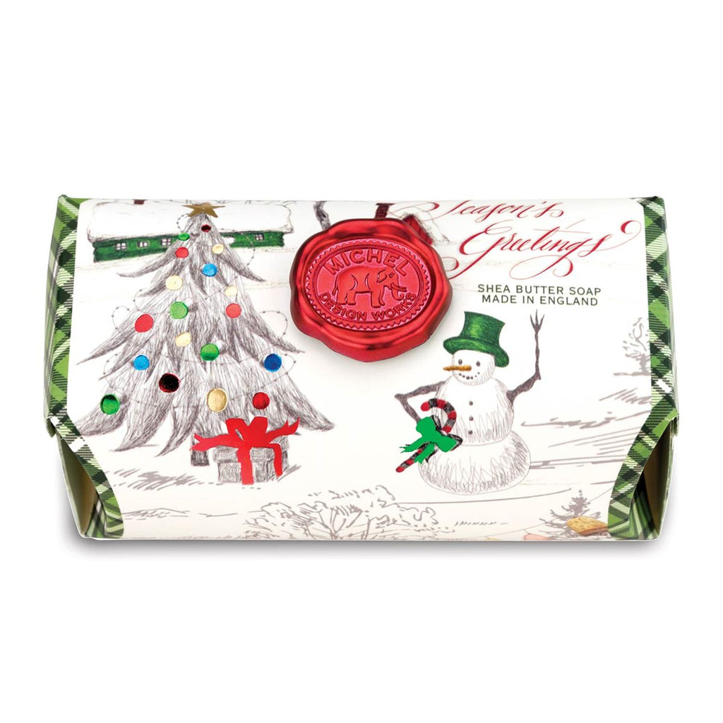 Season's Greetings Large Soap Bar