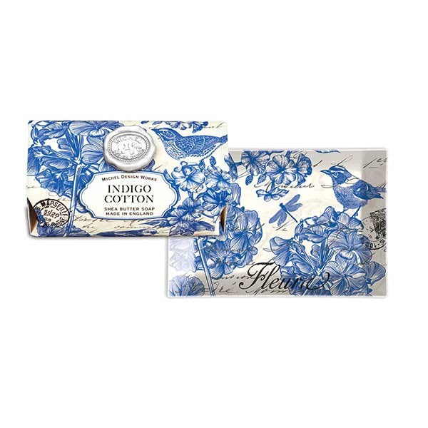 Indigo Cotton Large Soap Bar